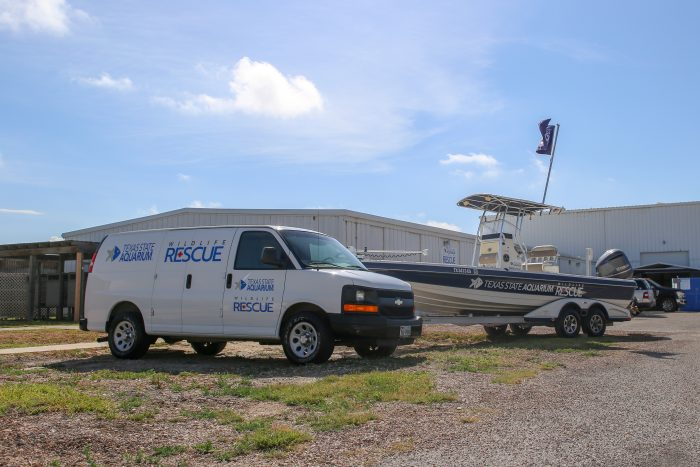 Wildlife Rescue van and boat